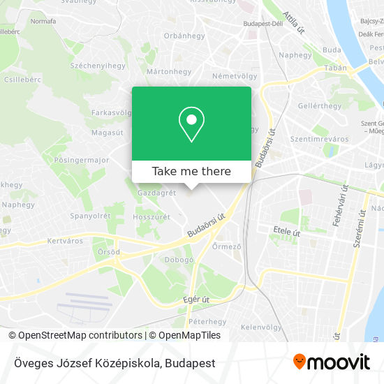 Öveges József Középiskola map