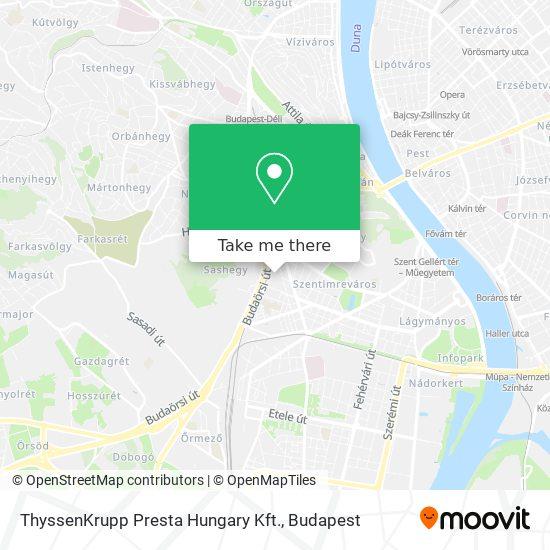 ThyssenKrupp Presta Hungary Kft. map