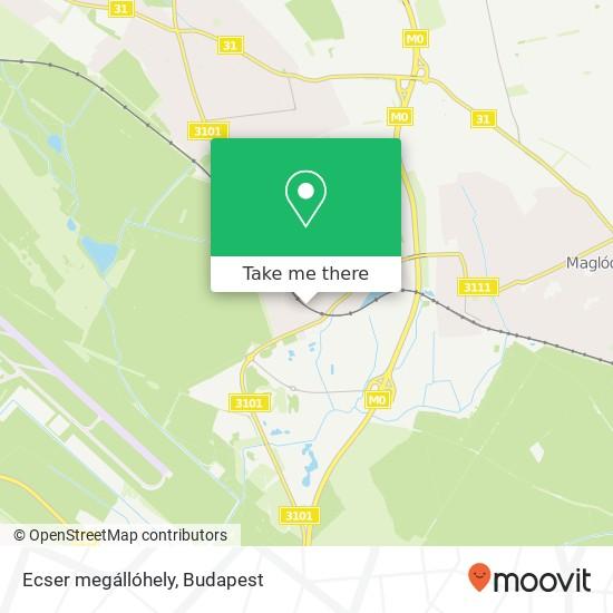 Ecser megállóhely map