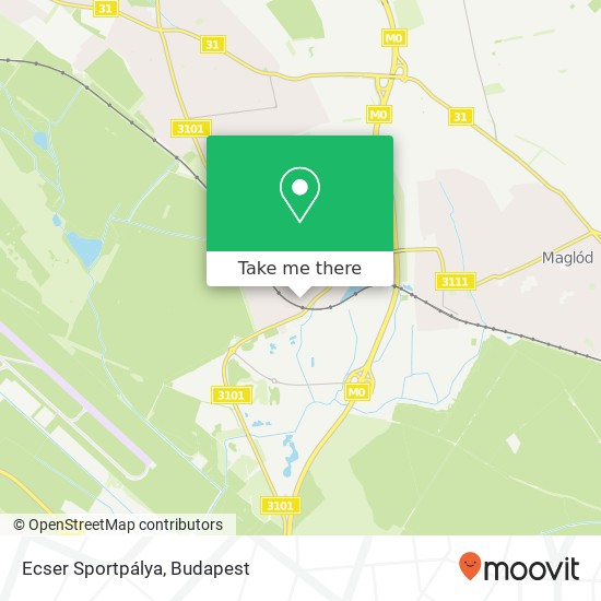 Ecser Sportpálya map