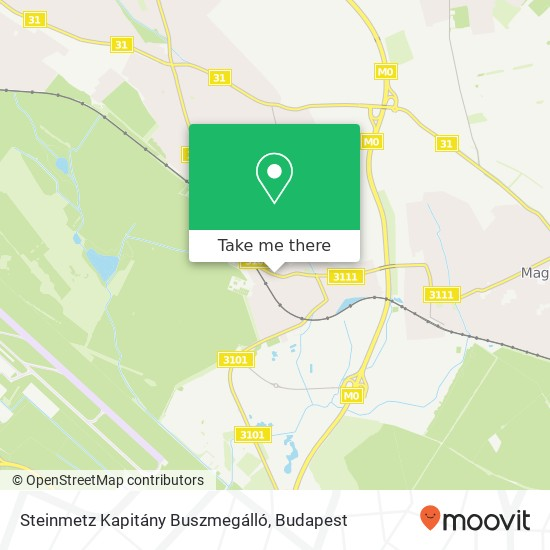 Steinmetz Kapitány Buszmegálló map
