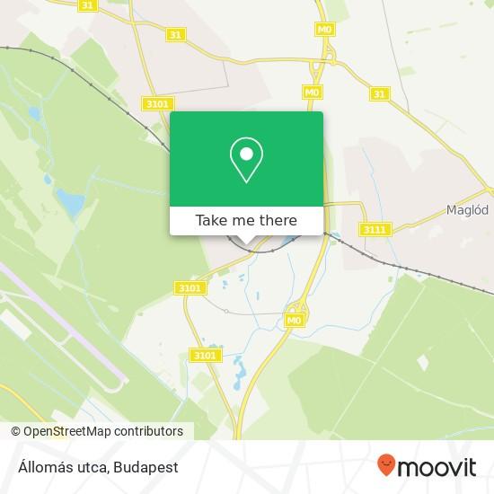 Állomás utca map