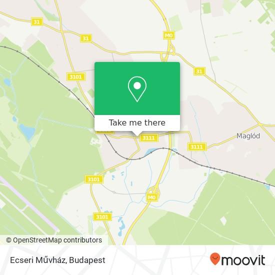 Mapa Ecseri Művház