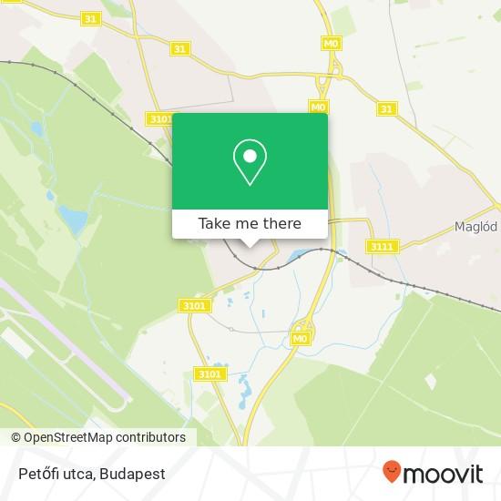 Petőfi utca map