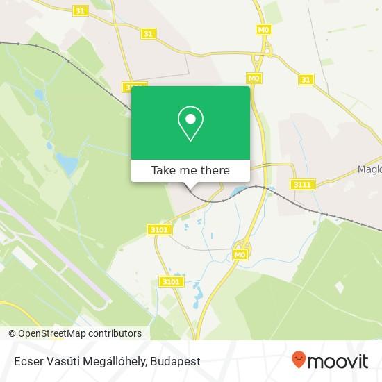 Ecser Vasúti Megállóhely Karte
