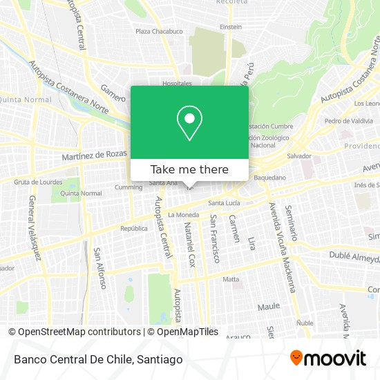 How To Get To Banco Central De Chile In Santiago By Micro Or Metro