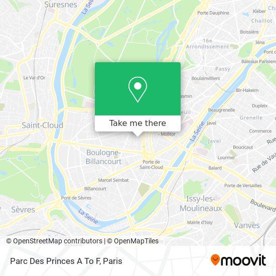 Parc Des Princes A To F map