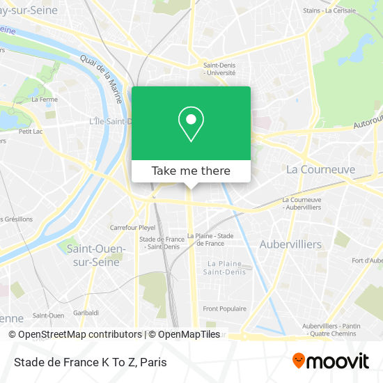 Stade de France K To Z map