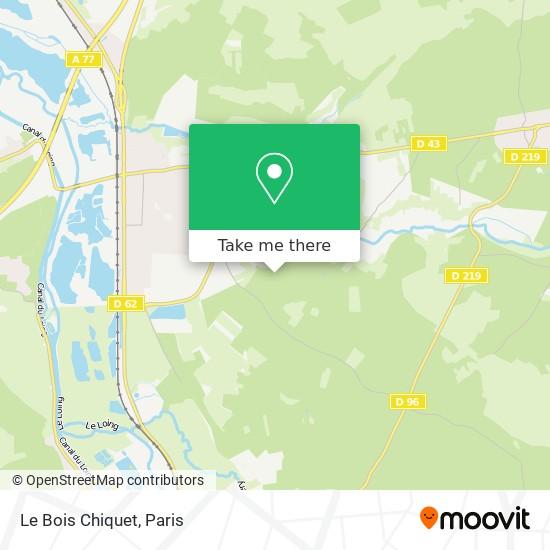 Mappa Le Bois Chiquet