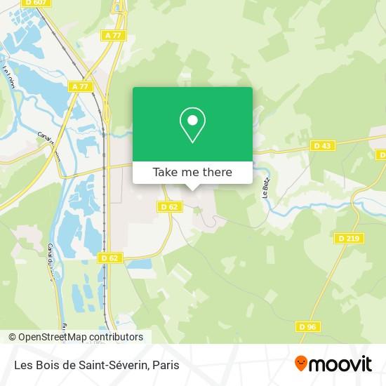 Mappa Les Bois de Saint-Séverin