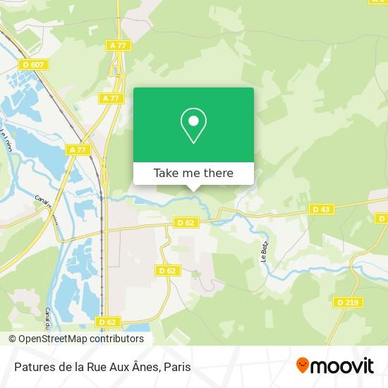 Mappa Patures de la Rue Aux Ânes