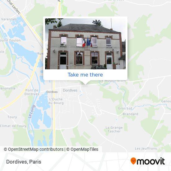 Mappa Dordives