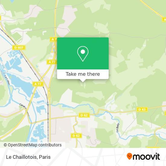 Le Chaillotois map