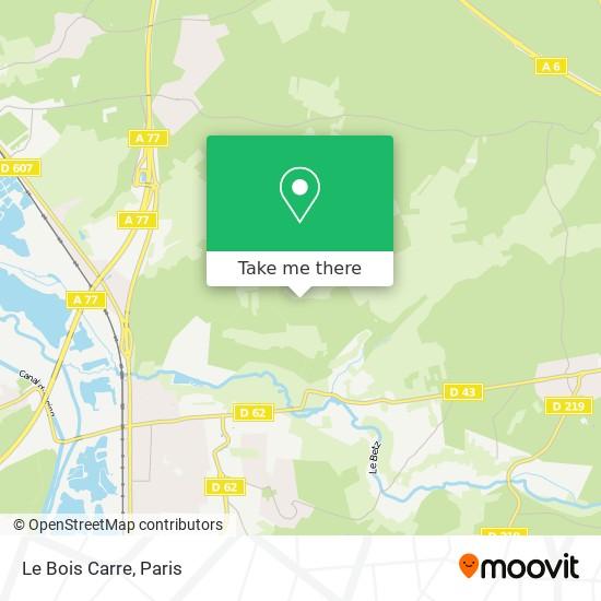 Le Bois Carre map