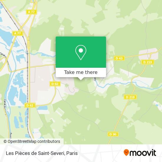 Mappa Les Pièces de Saint-Severi