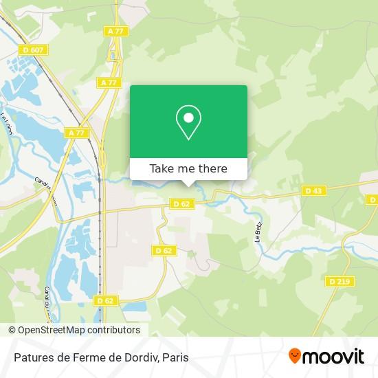 Mappa Patures de Ferme de Dordiv