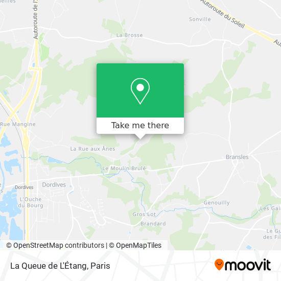 Mapa La Queue de L'Etang