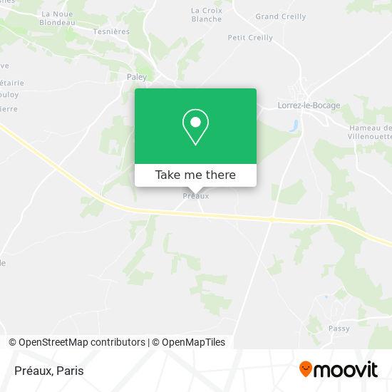 Préaux map