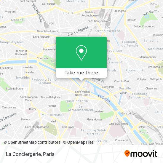 Cartina Parigi Con Monumenti E Metro.Come Arrivare A La Conciergerie A Paris Con Bus Metro Treno Rer O Tram Moovit