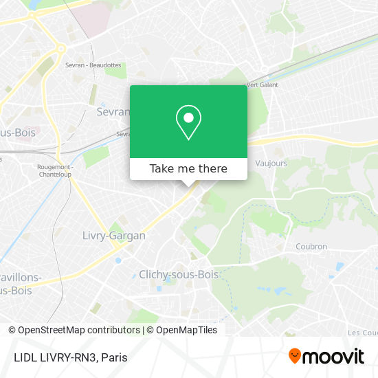 LIDL LIVRY-RN3 mapa