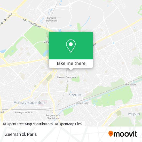 Zeeman xl mapa