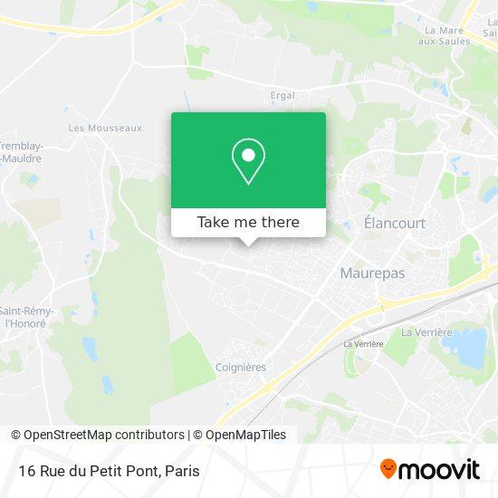 Mappa 16 Rue du Petit Pont