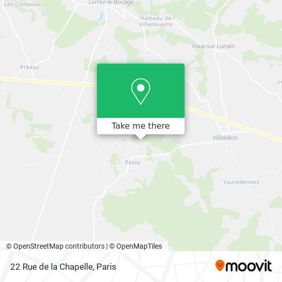 22 Rue de la Chapelle mapa