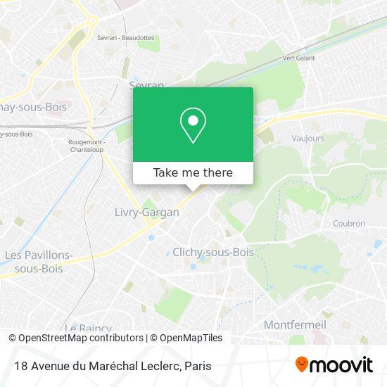 18 Avenue du Maréchal Leclerc mapa