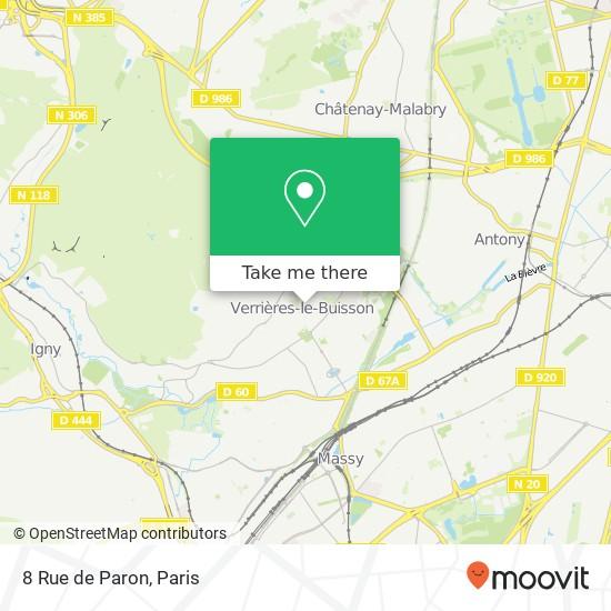 Mappa 8 Rue de Paron