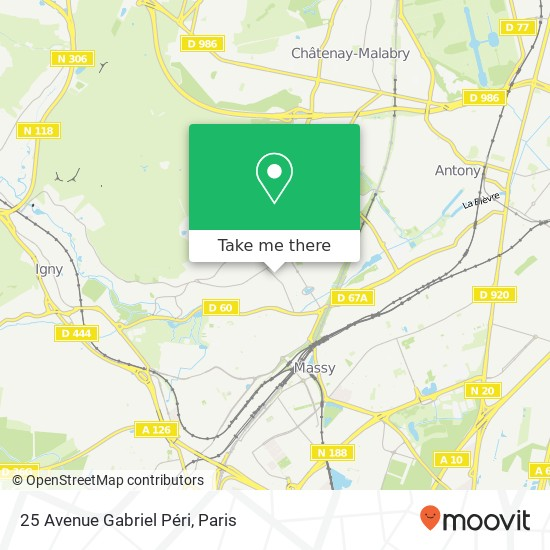 Mappa 25 Avenue Gabriel Péri