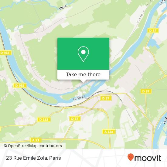 Mapa 23 Rue Emile Zola