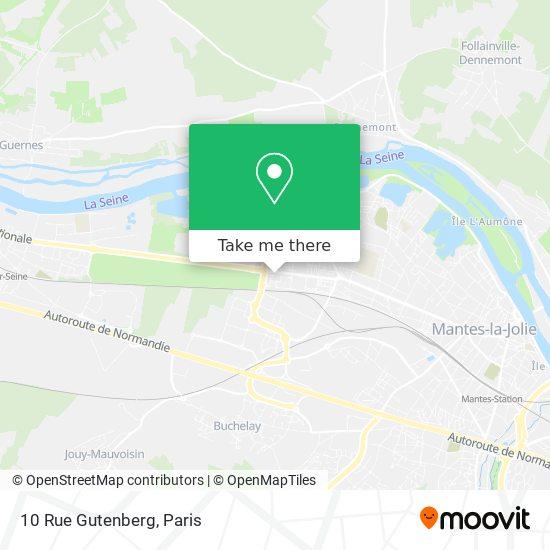 Mapa 10 Rue Gutenberg
