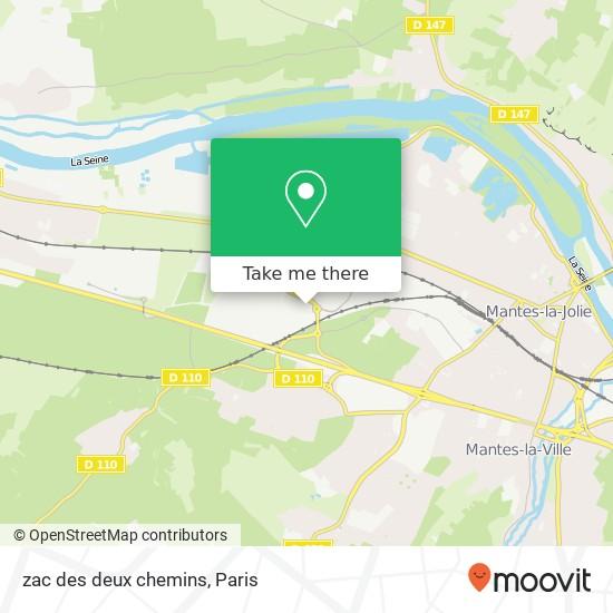 Mapa zac des deux chemins