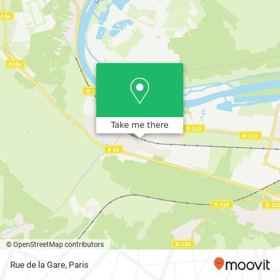Rue de la Gare map