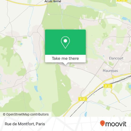 Mappa Rue de Montfort