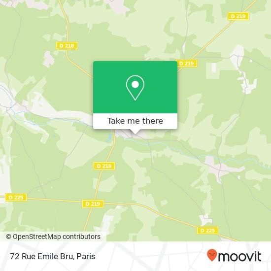 Mappa 72 Rue Emile Bru