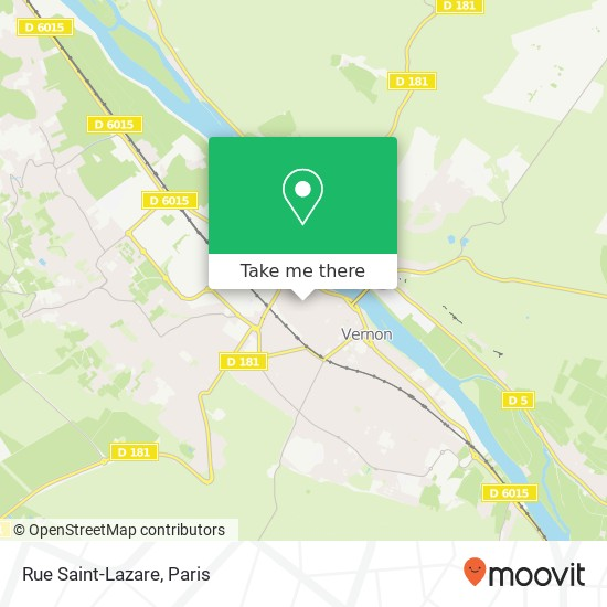 Rue Saint-Lazare map