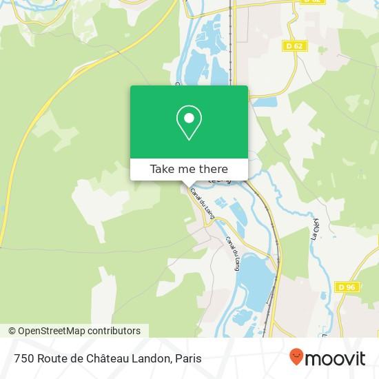 750 Route de Château Landon mapa