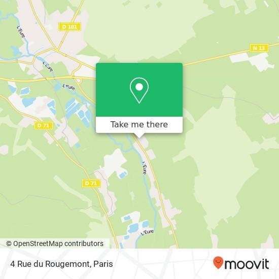 Mapa 4 Rue du Rougemont