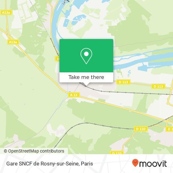 Gare SNCF de Rosny-sur-Seine map