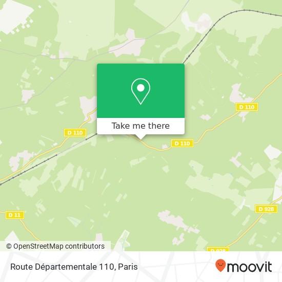 Mappa Route Départementale 110