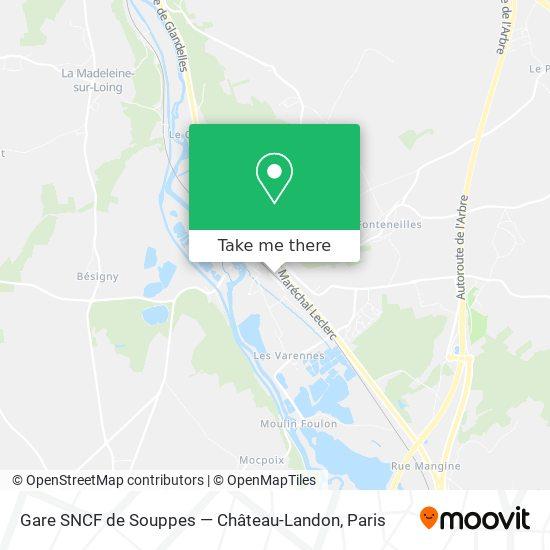 Gare SNCF de Souppes — Château-Landon mapa