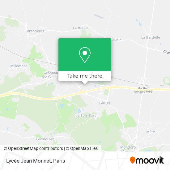 Lycée Jean Monnet mapa