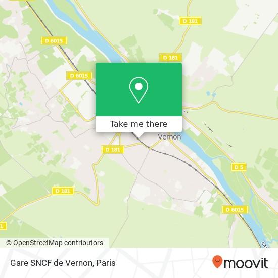 Gare SNCF de Vernon map