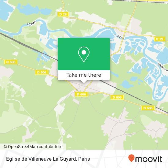 Eglise de Villeneuve La Guyard map