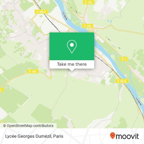 Mapa Lycée Georges Dumézil