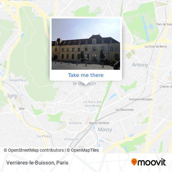 Mappa Verrières-le-Buisson