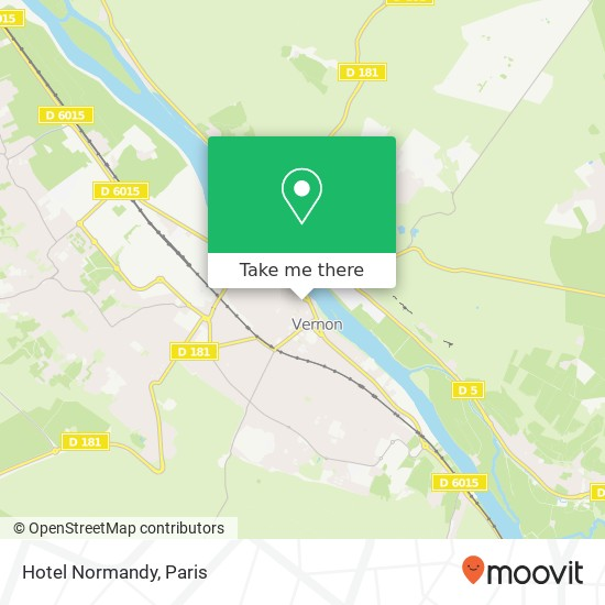 Hotel Normandy map