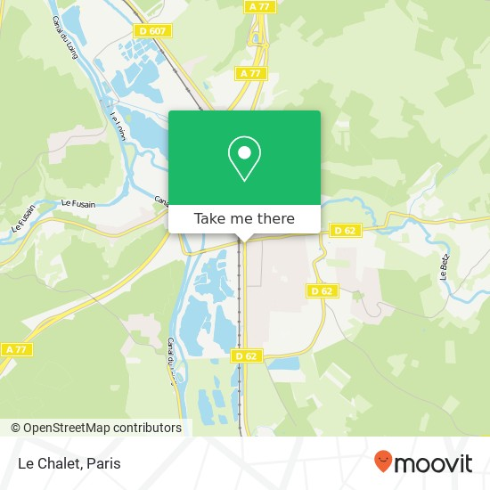 Mappa Le Chalet
