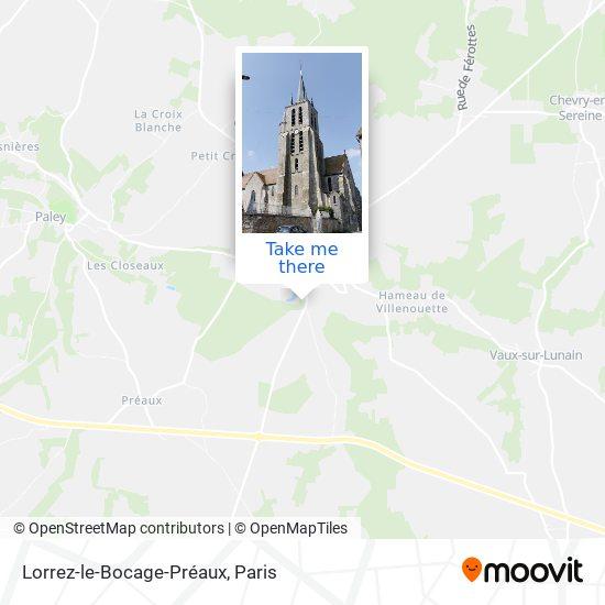 Lorrez-le-Bocage-Préaux mapa